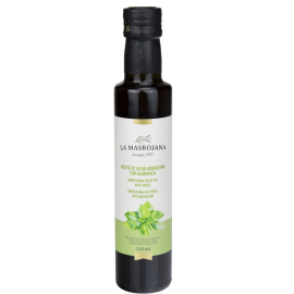Oli d'oliva amb alfàbrega